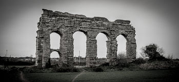 Ancient Rome. Remains of ancient Rome - Aqueduct Stock Photos