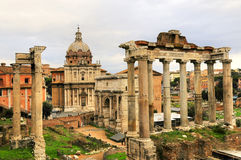 Ancient Rome Ruin Building Of Rome City Royalty Free Stock Image