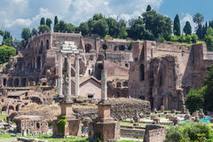 Ancient rome ruins Stock Images