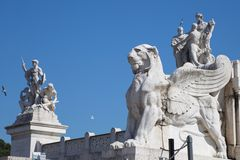 Ancient Rome Sculptures, Rome. Italy Royalty Free Stock Photo
