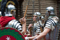 Ancient Rome soldiers Stock Images