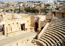 Ancient Rome theatre in Amman Stock Photos