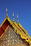 Ancient roof in Bkk Stock Photography