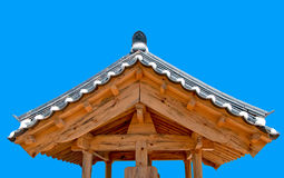The Ancient roof of korea style Stock Photos