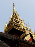 Ancient roof. Temple roof in Lampang Thailand Royalty Free Stock Images