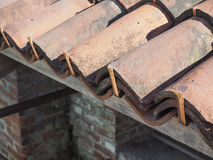 ancient roof tiles Stock Images