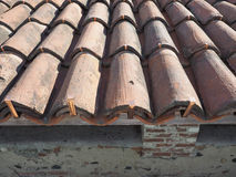 ancient roof tiles Stock Photography