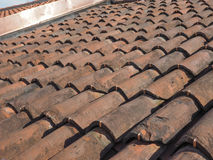 Ancient roof tiles Stock Photos