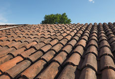 Ancient roof tiles Royalty Free Stock Images