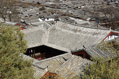 Ancient roofs in Lijiang old town, Yunnan China Stock Image