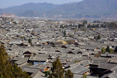 Ancient roofs in Lijiang old town, Yunnan China Royalty Free Stock Photo