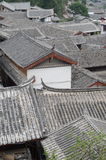 Ancient roofs in Lijiang old town, Yunnan China Royalty Free Stock Images