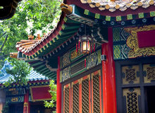 Ancient Roofs Pavilions Lantern Taoist Temple Stock Images