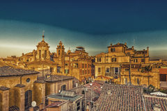 Ancient roofs of Rome Stock Image