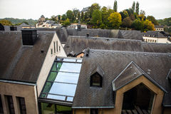 Ancient rooftop from a tile in Luxembourg close-up Stock Photography