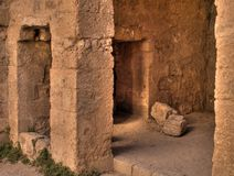Ancient Room. Doorway in an ancient room in Kerak Castle Jordan royalty free stock photography