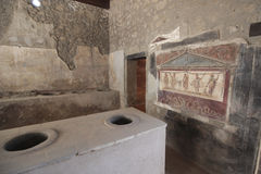 Ancient room in Pompeii, Italy Royalty Free Stock Image