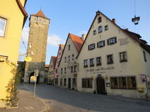 Ancient Rothenburg ob der Tauber Stock Photo