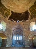 The ancient rotunda on St. George Square from the inside in Thessaloniki, Greece stock photos