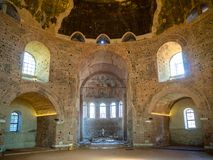 The ancient rotunda on St. George Square from the inside in Thessaloniki, Greece royalty free stock photo