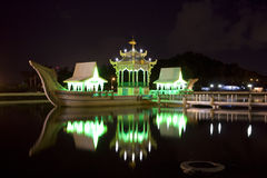 Ancient Royal Barge at Night, Brunei Royalty Free Stock Photography