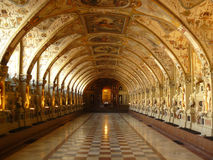Munich residenz. Ancient royal hall - Munich resident - with rich decorations all over the walls Stock Photo