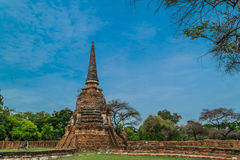 The Ancient Royal Palace in Ayutthaya Thailand Royalty Free Stock Photo