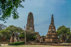 The Ancient Royal Palace in Ayutthaya Thailand. The Ancient Royal Palace in Ayutthaya of Thailand Stock Images