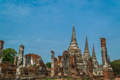 The Ancient Royal Palace in Ayutthaya Thailand Stock Photos