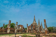The Ancient Royal Palace in Ayutthaya Thailand Stock Images