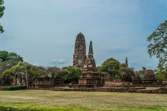 The Ancient Royal Palace in Ayutthaya Thailand Stock Photo