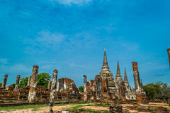 The Ancient Royal Palace in Ayutthaya Thailand Stock Photo