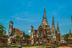 The Ancient Royal Palace in Ayutthaya Thailand Stock Image