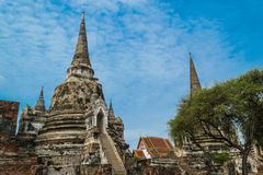 The Ancient Royal Palace in Ayutthaya Thailand. The Ancient Royal Palace in Ayutthaya of Thailand Stock Image
