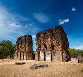 Royal Palace ruins Stock Photography