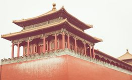 The ancient royal palaces of the Forbidden City in Beijing, Chin. A Royalty Free Stock Image
