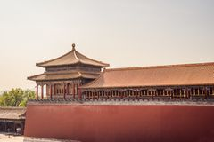 Ancient royal palaces of the Forbidden City in Beijing,China.  stock photo