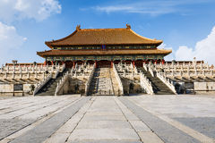 The ancient royal palaces of the Forbidden City in Beijing Royalty Free Stock Photography