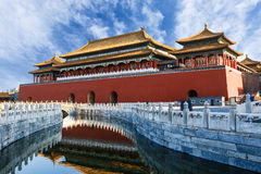 The ancient royal palaces of the Forbidden City in Beijing Stock Photos