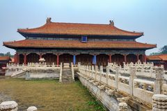 Ancient royal palaces of the Forbidden City in Beijing China. The ancient royal palaces of the Forbidden City in Beijing, China royalty free stock photo