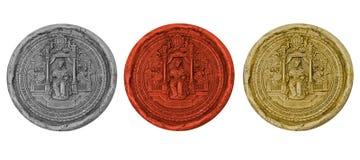Ancient royal seals Stock Images
