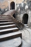 Ancient royal stairs detail. In an old mosque in Indonesia Royalty Free Stock Photo