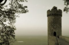 Ancient ruin. Tower of ancient castle in germany Royalty Free Stock Images