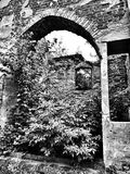 Ancient ruin. Artistic look in black and white. Stock Images