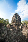Ancient ruin of the Bayon temple, Angkor Wat Cambodia Royalty Free Stock Image
