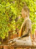 Ancient ruin Buddha image Royalty Free Stock Image