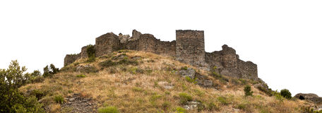 Ancient ruin of castle. Ancient ruin of medieval castle in Spain Royalty Free Stock Photos