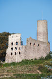 Ancient ruin of castle on hill. Strahlenburg at Schriesheim, Germany royalty free stock photos
