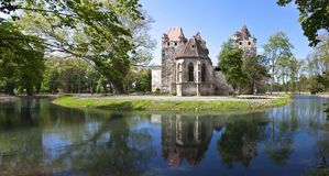 Ancient ruin of the castle Pottendorf Austria Royalty Free Stock Images