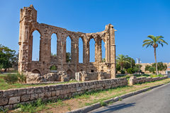 Ancient ruin. In Famagusta, daytime and blue sky Royalty Free Stock Photos